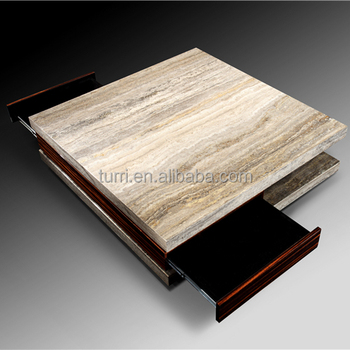 Modern Living Room Furniture Marble Top Coffee Table For Sale