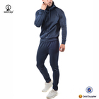 Top selling soft slim gym tracksuit branded cotton tracksuit material design your own tracksuit