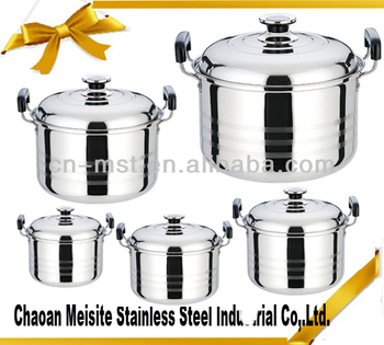 555 Stainless Steel Stock Pot With Steel Lid