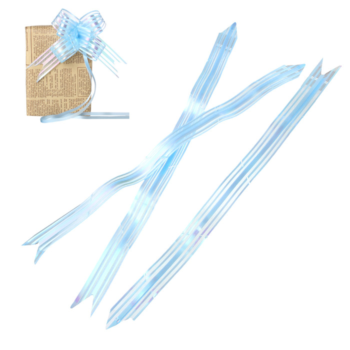 Gift Box Garland Decorations Lightblue Stripe Pattern Pull Bow