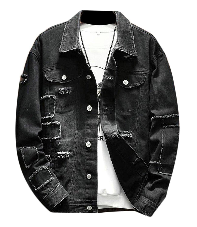 e053abfcda6 Get Quotations · GAGA Men's Classic Slim Fit Jean Jacket Denim Trucker  Jacket