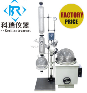 Lab heating water oil bath distill equipment with rotary flask for rotovap 10l,20l,30l,50l thin film evaporator glass price