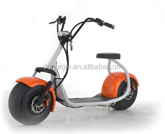 Europe drop shipping electric fat bike kit 1500w 60v adult city coco electric motorcycle scooter with CE