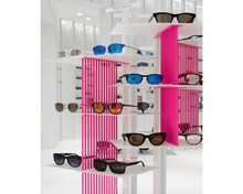 High Fashion Pure White Eyewear Flagship store Boutique Retail Selecteren Winkel Creatief Interieur Clear <span class=keywords><strong>Acryl</strong></span> Display