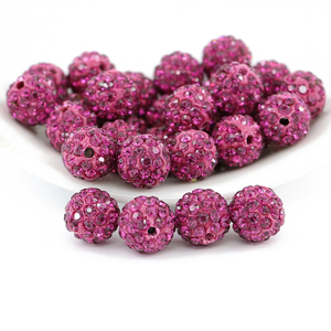 China crystal cheap wholesale pave crystal disco ball beads