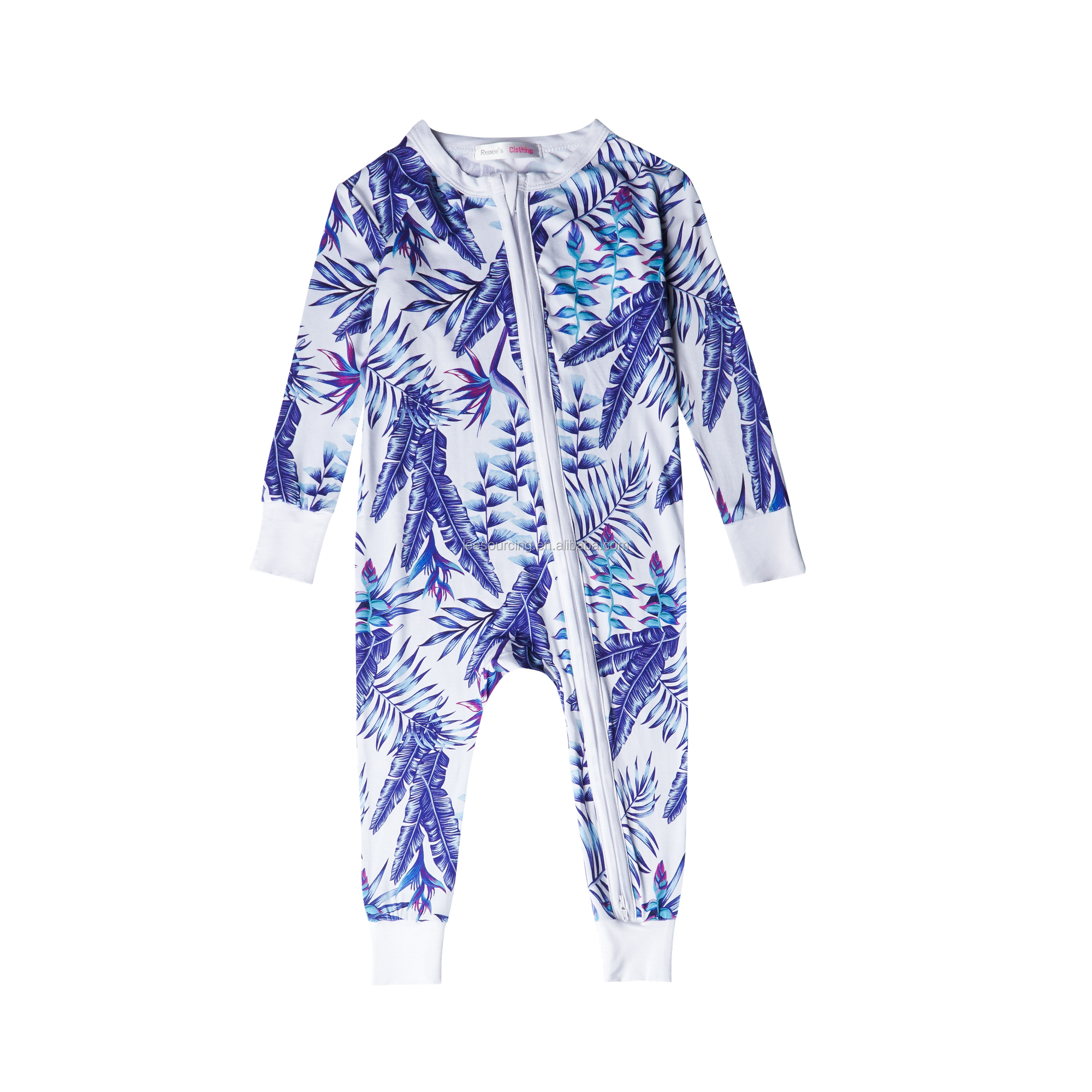 High quality bamboo baby zipper suit promotion