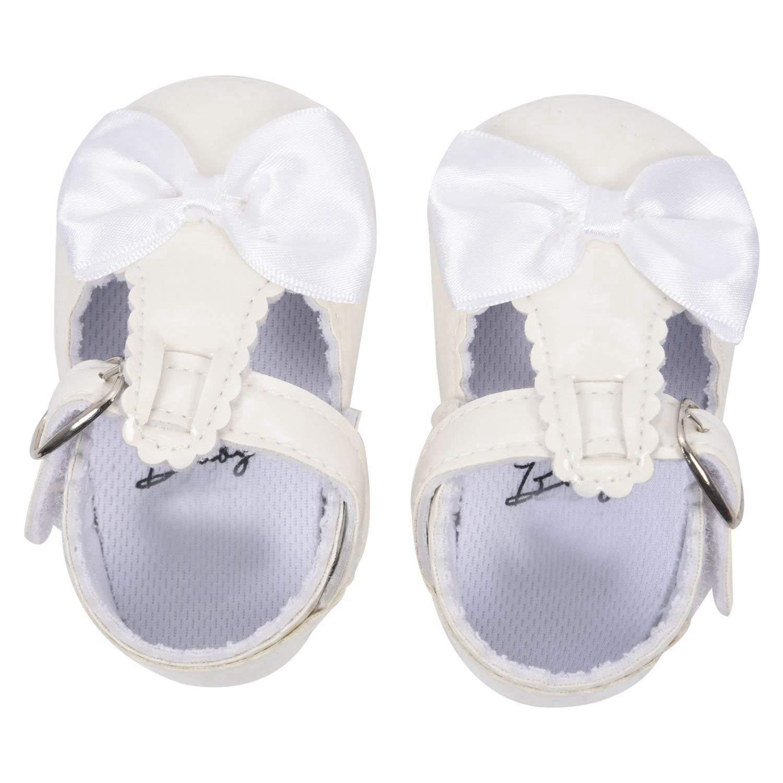 SODIAL(R) Newborn Baby Girl Bow Anti-slip Crib Shoes Soft Sole Sneakers Prewalker 0-6M White S