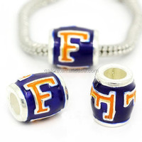 florida gators custom design silver european style bead