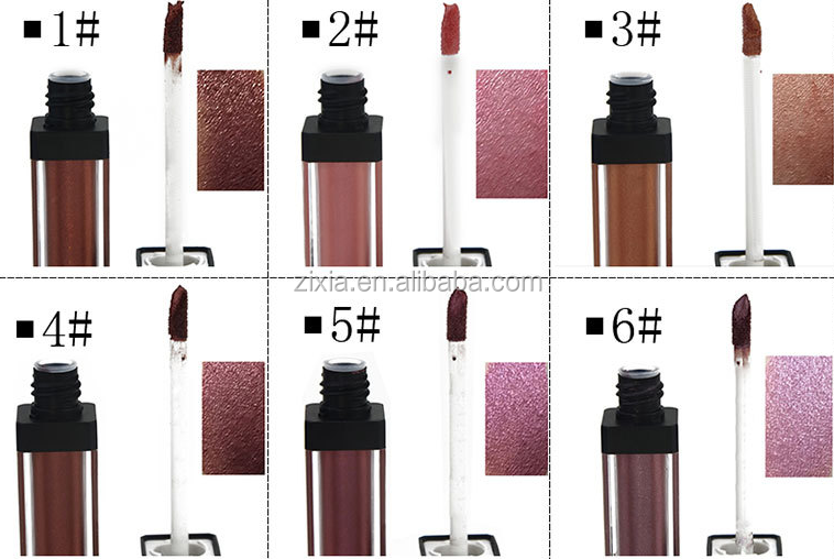 new items 2018 lipgloss tube containers with brush color change liquid lipstick long lasting