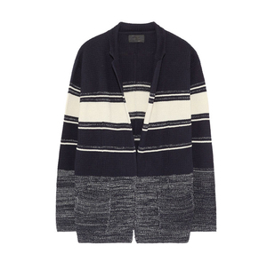 Men fashion stripe knitted cardigan