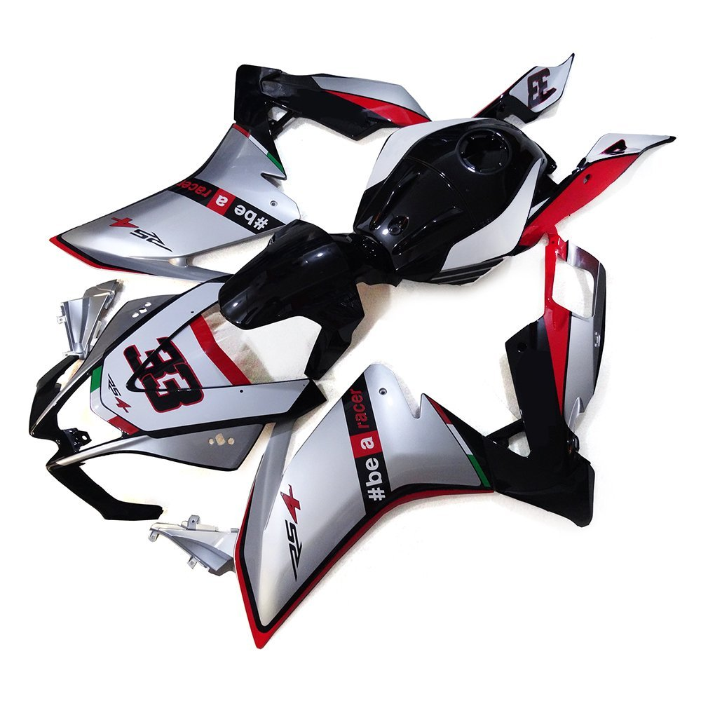 Sportfairings Full Fairings Injection ABS Body Kits For Aprilia RS4 125 2012 Motorcycle Body Kits Silver Black Red Cowlings