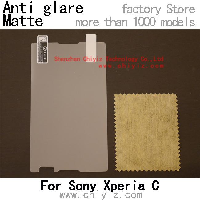 matte anti glare screen protector protective film for Sony Xperia C Dual C2304 C2305 S39h