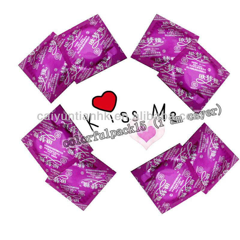High quality condom wrapper/three side sealed/customized/easy tear bag for condam packaging