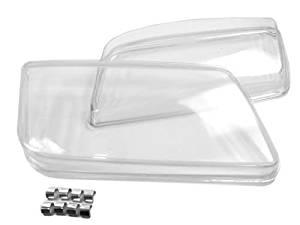 CPW (tm) 99-05 VW JETTA BORA MK4 HELIX REPLACEMENT GLASS HEADLIGHT LENSES - PAIR
