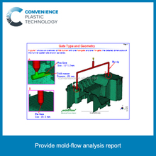 Provide mold-flow analysis report