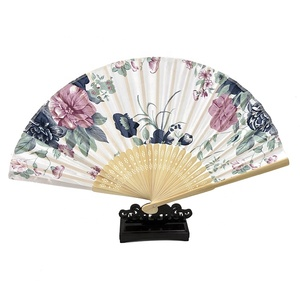 Factory direct sale 33cm large paper hand fan business gift wooden hand fan bulks