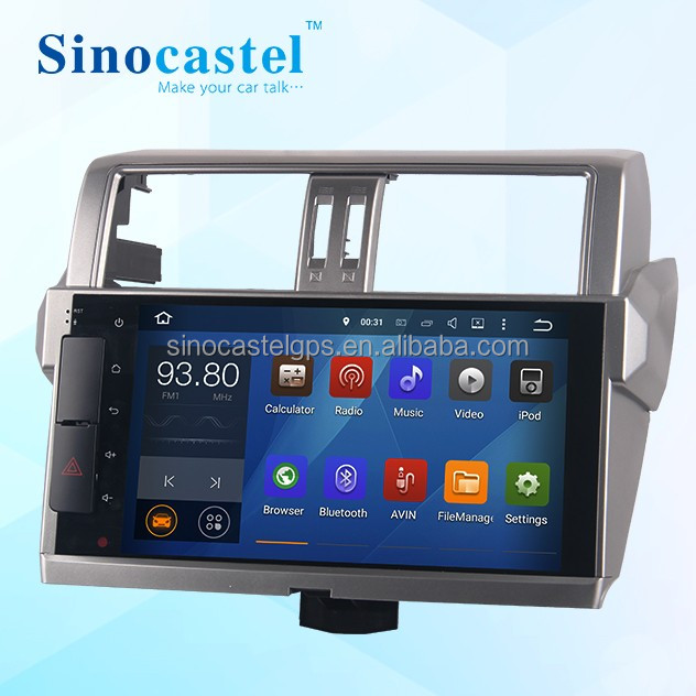 10.1 Inch Android Car PC For <strong>Toyota</strong> <strong>Prado</strong> 2014/2015/2016 With Canbus Support AUX IN + 1080P Full HD Video Play