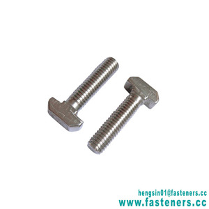 Factory price galvanised carbon steel t hammer head bolts din261