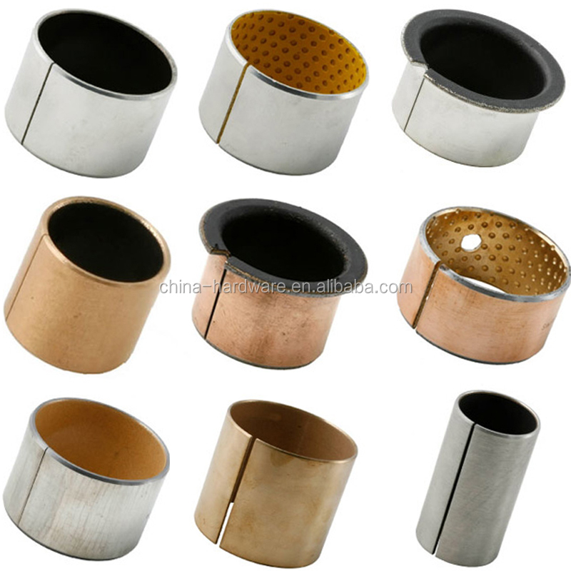 Low price bronze bushing,bimetal steel copper plain bsuh,DU Teflon bearing bush
