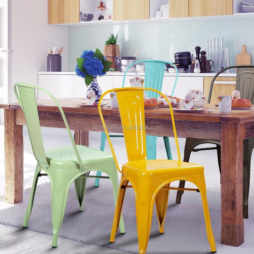 Moda Diferentes Colores Hierro Respaldo Alto Restaurante Comedor  # Muebles Tubulares
