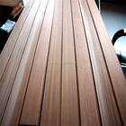 Western red cedar solid wood wall panel