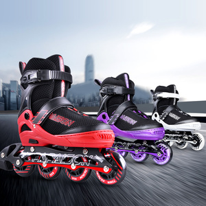 High quality speed skates inline rubber elastic comfortable inner thickened chassis roller skates for Rental