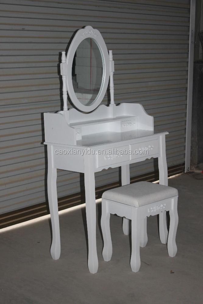 מפוארת מחיר נמוך המאופר שולחן/schmenktisch & hocker/זול יותר לבן שולחן AD-84