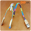 micro usb data with packaging zipper usb cable 2in1 usb cable for samsung galaxy s7
