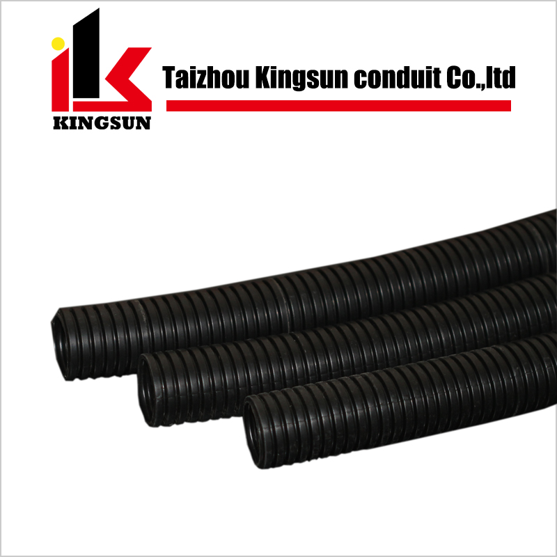 Black electrical plastic flexible corrugated hose