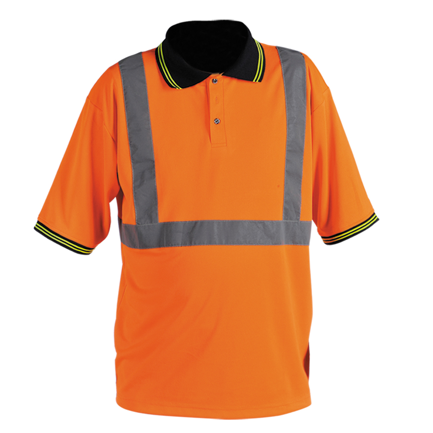 High visibility reflective tape reflective polo t shirt for Hi vis shirts with reflective tape