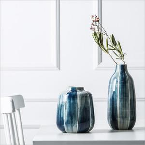 creative nordic ceramic living room home decoration porcelain blue and white vase