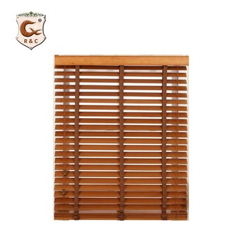 Classic pvc wooden venetian window blind with Bracket