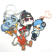 VOGRACE 2019 NO MOQ cheap soft pvc rubber keyring 2D Anime rubber keychain,Soft rubber Custom pvc key chain for gift