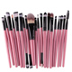 Human hair 20 PCS Makeup Brushes Set Make-up Toiletry Kit Make Up Brush Set Case Cosmetic Foundation Brush