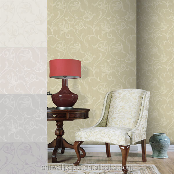 House Textile Fabric Backed Vinyl Wallcovering