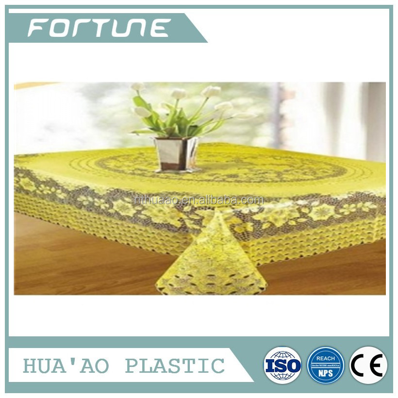 PVC PLASTIC LACE CLOTH TRANSFER PRINTING FILM USED FOR DINING TABLE OVERLAYS