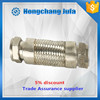 flange stainless steel braided corrugated flexible gas metal hose