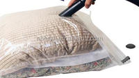 Vacuum Storage Space Saver Bags for Clothes, Duvets, Pillows & Travel Luggage. Max Double Strength Ziploc. 6 Pack