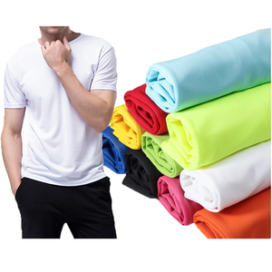 Custom 100% polyester standard dri fit t shirts men wholesale in China factory