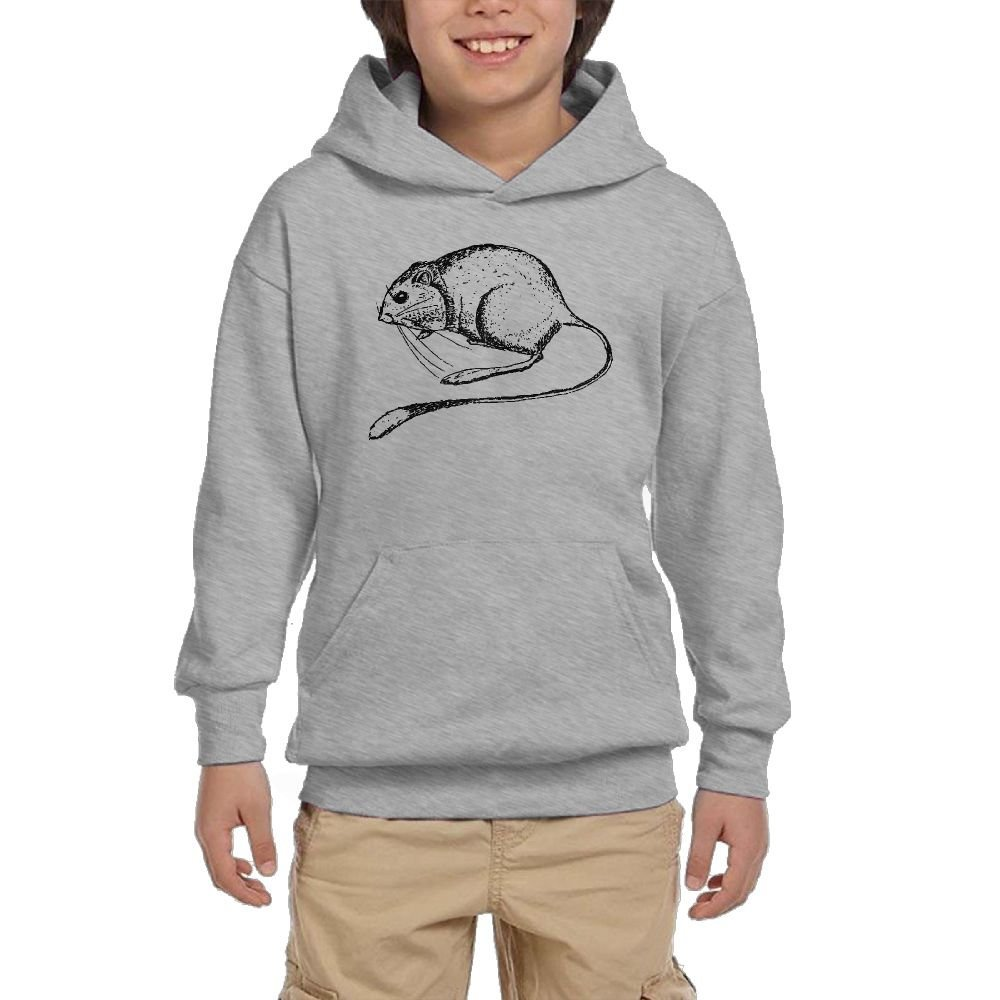 Rats Cartoon Youth Athletic With Pocket Hoodies Hot Tops Pullover Sweatshirts
