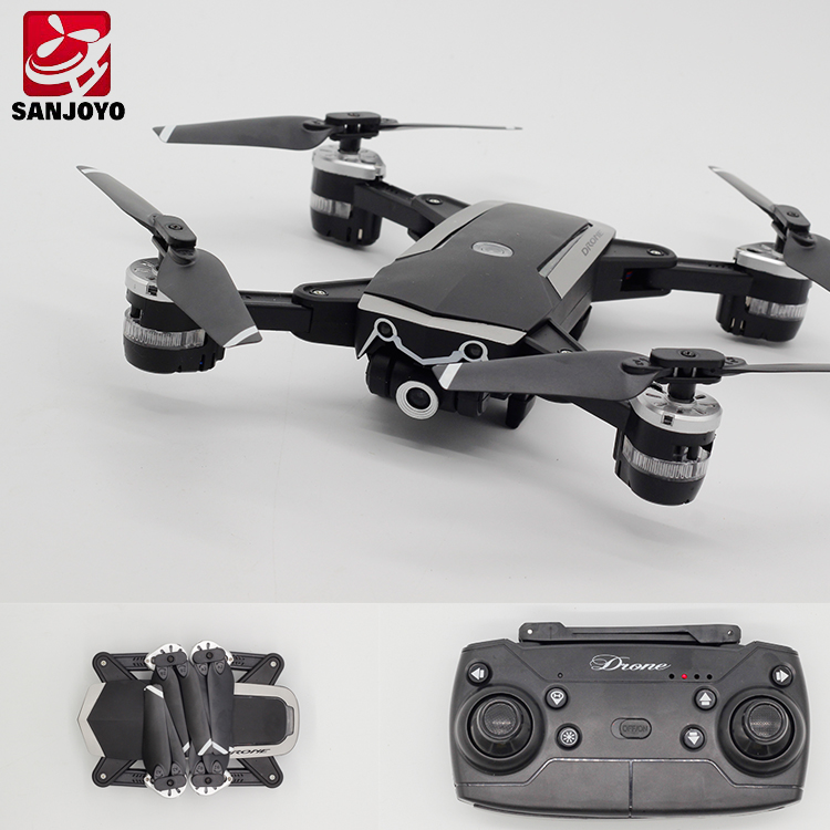 Upgrade YH-19HW New Pocket Drone WIFI FPV With 720P  Wide Angle Camera 16Mins Long Flying Folding Drone  SJY-YH18S
