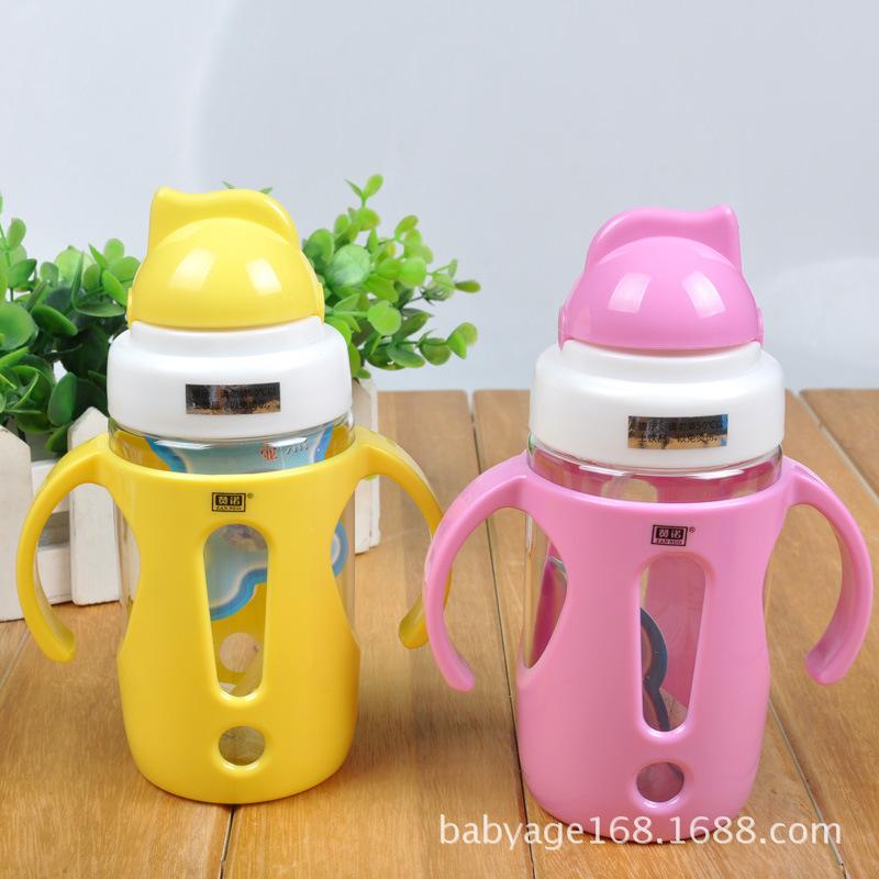 Детские дети солома кубок бутылку емкостью 330 мл сиппи чашки пейте обучение с ручкой милый