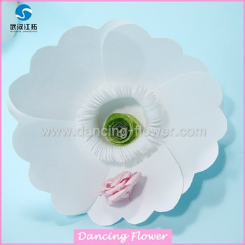 Sale Large White Chinese Style Paper Flower For Christmas Backdrop
