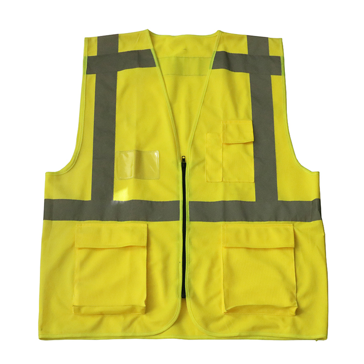 Best selling cheap green polyester reflective safety vest