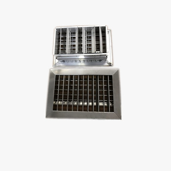 Wholesaler Stainless Steel Double Deflection Air Grille for ventilation