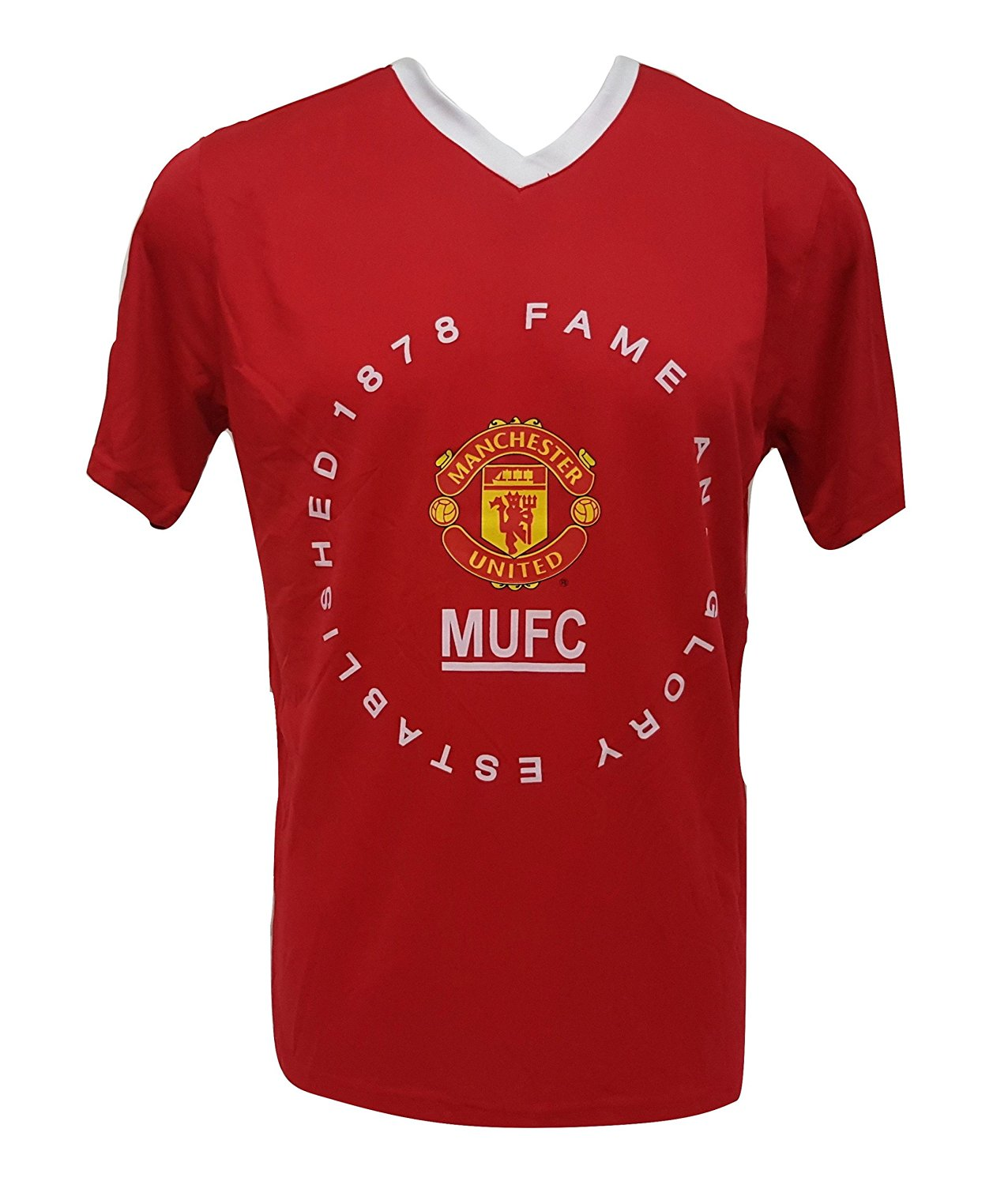 760537156a Get Quotations · Manchester United Fame and Glory Men s Jersey Poly T-shirt