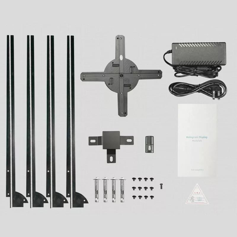 100 センチ/1 メートルディスプレイ直径広告デジタルポスター Led ホログラフィックデバイスファン