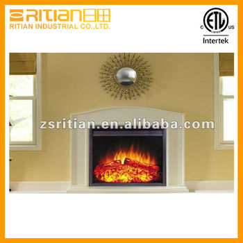 Infrared Electric Fireplace Insert Decor Flame Heater Stove