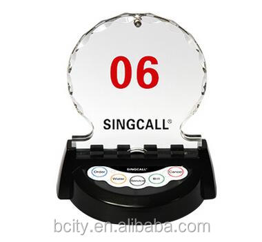 Luxury crystal five keys wireless calling button especially for restaurant and coffee shop and tea house