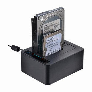 UNESTECH 2.5/3.5in dual SATA HDD docking station 6Gbps USB 3.0 external with Offline Clone Function HDD Duplicator